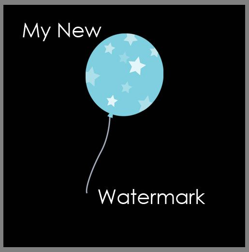 how to make a photography watermark in photoshop elements