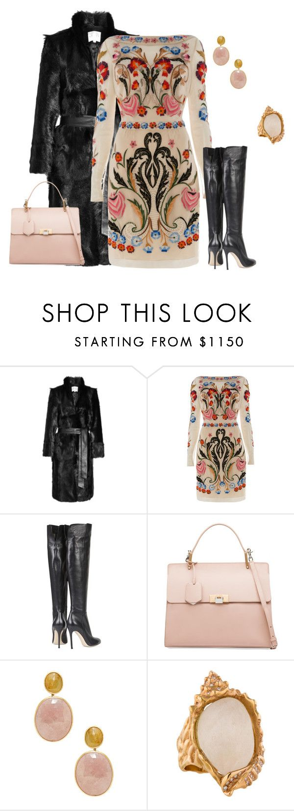 """outfit1491"" by natalyag ❤ liked on Polyvore featuring Reiss, Temperley London, Gianvito Rossi, Balenciaga and Marco Bicego"