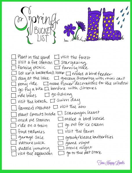 2014 Spring Toddler Bucket List | Two Happy Lambs