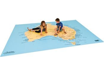Giant Australia Floor Map   A 2.47 x 3.7m floor map to play on while learning about Australia and its exciting and beautiful cities and regions.