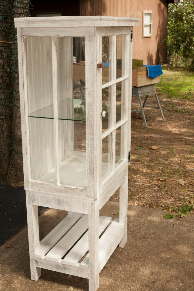 Love This Multi Old Window Curio Cabinet Makes Me Want To Start Collecting