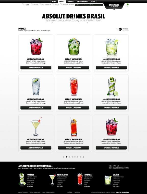 Absolut Drinks Brasil on the Behance Network