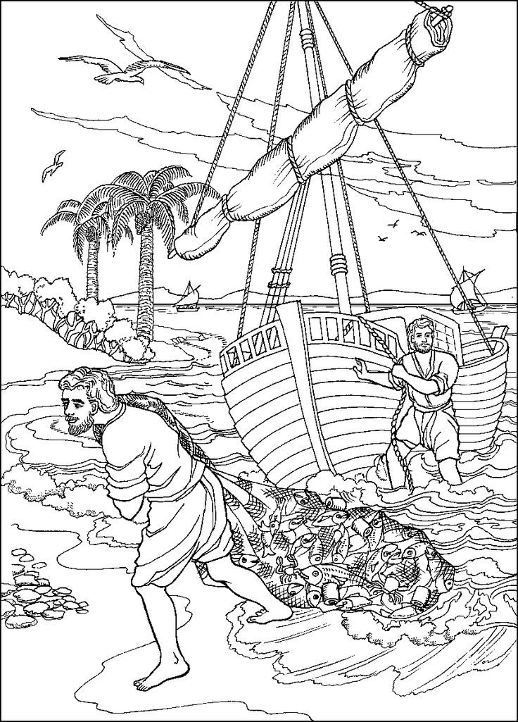 bible coloring pages miracles - photo#34