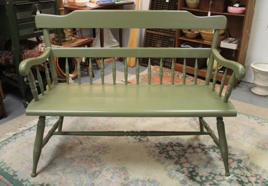 Painted Deacons Bench (SOLD)