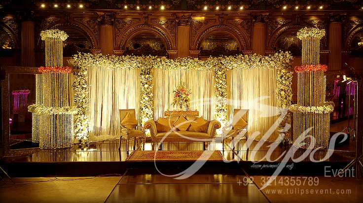 Best Pakistani Wedding Stages Decoration ideas and services provider in Lahore.  Visit for more: www.tulipsevent.com