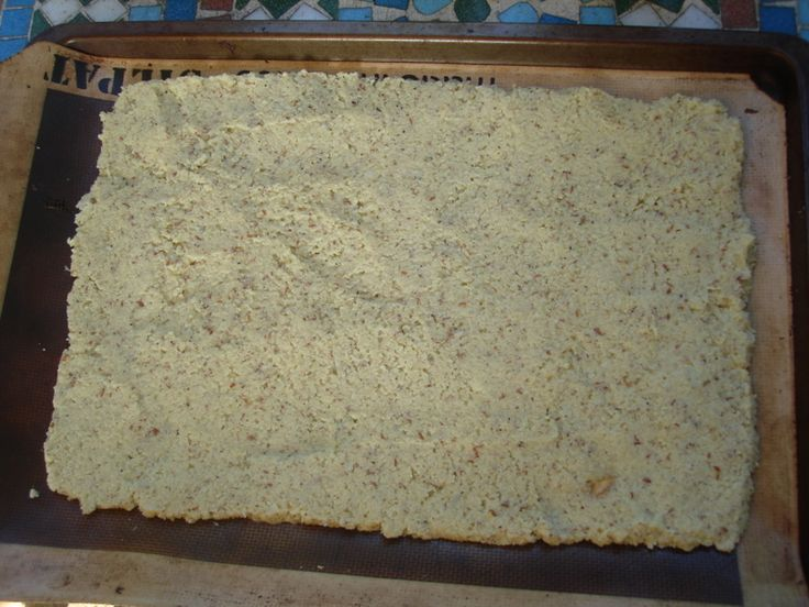 Paleo cauiflower pizza crust WITHOUT cheese... I don't know... will have to try it.