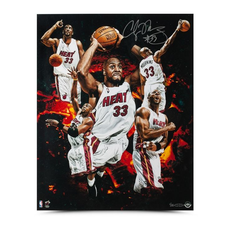 """ALONZO MOURNING Autographed """"ZO"""" Collage 16 X 20 Photo UDA LE 33 - Game Day Legends"""