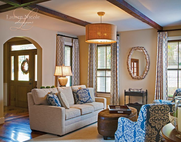 Lauren Nicole Designs Family Room Interior Design Charlotte Nc Lake Norman Sofa Stickley