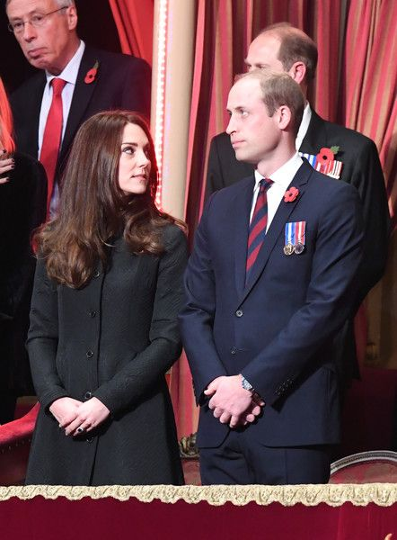 Prince William, Duke of Cambridge and Catherine, Duchess of Cambridge attend the annual Royal Festival of Remembrance at the Royal Albert Hall on November 12, 2016 in London.