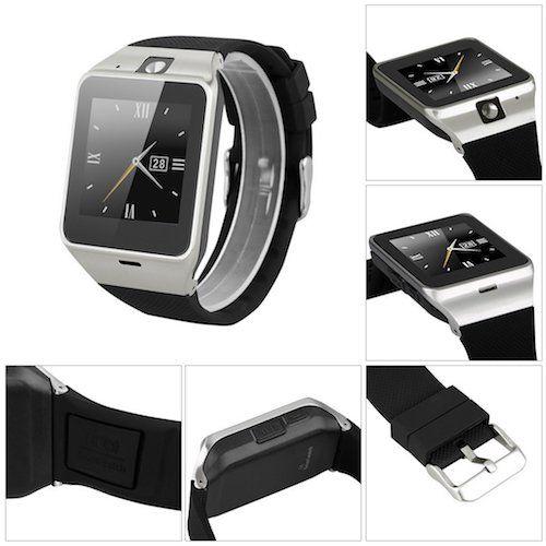 Excelvan GV18 - Reloj Smartwatch NFC Smartphone Libre 2G SIM