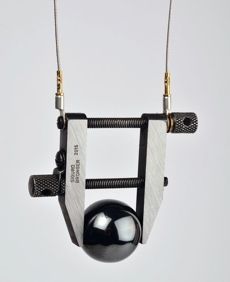 In Between by Sigurd Bronger Exhibition / 28 Feb 2015 - 11 Apr 2015 - Galerie Ra - Nes 120 1012 KE - Amsterdam NETHERLANDS [Sigurd Bronger Pendant: Carrying device for a haematite ball, 2014]