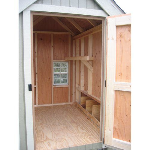 Little Cottage Company Colonial Gable Chicken House with Ramp and Nesting Box