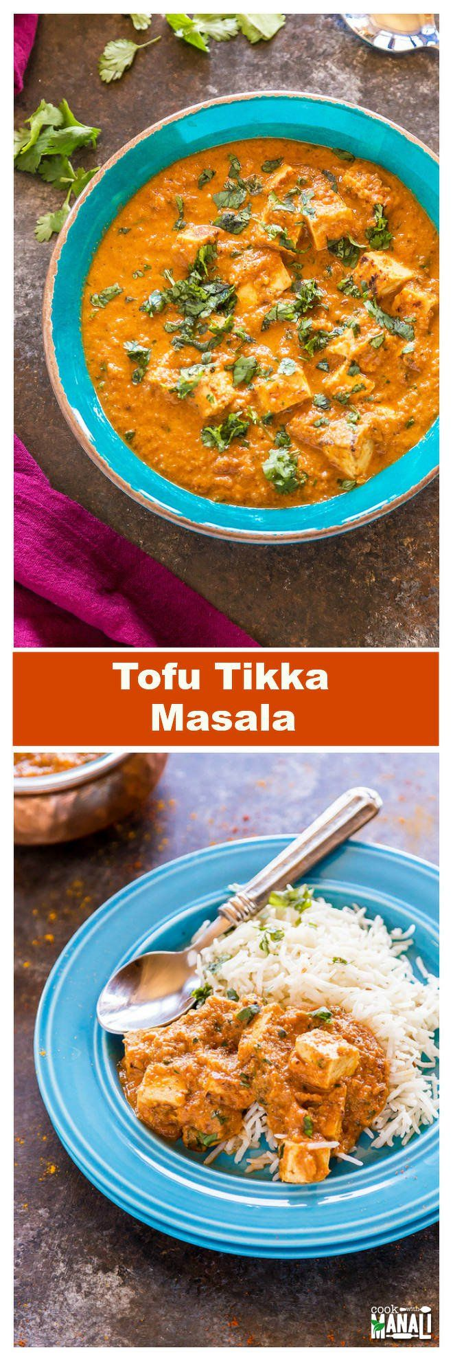 Delicious Tofu Tikka Masala is a vegetarian curry which is best enjoyed with naan, rice or any flatbread of your choice! Gluten-free!