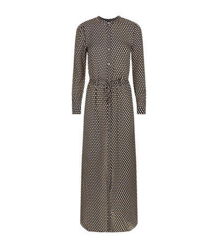 Michael Michael Kors Alston Drucken Maxi-Damen Kleid Online Schwarz Multi