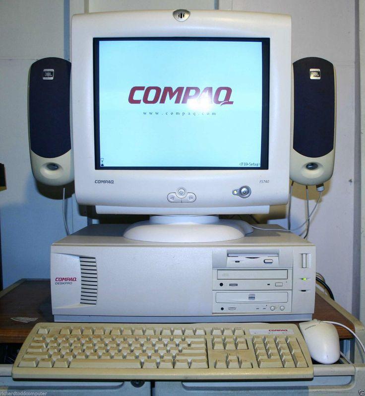 Hela Suite Compaq Deskpro w Pentium II 400MHz 6 4GB HDD 192MB RAM JBL Högtalare | eBay