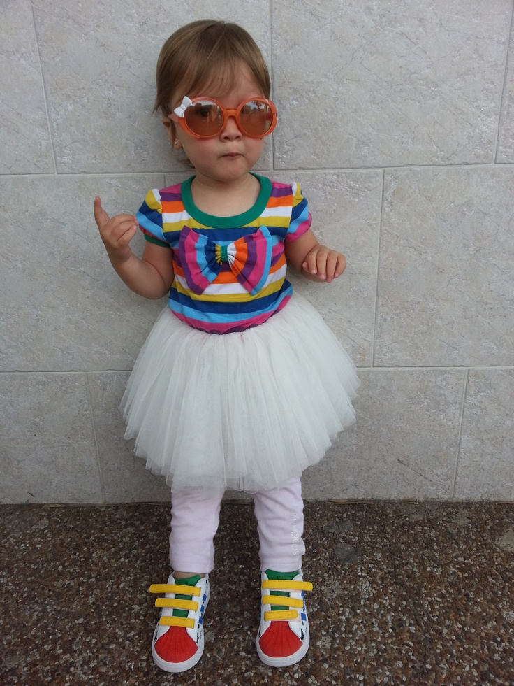 Miss Sophia thinks a girl should be able to wear comfort footwear anytime!    RYB Circus dress