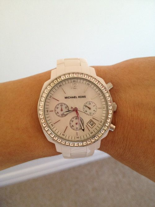 White Michael Kors Watch - $97 #closet #Fashion #Clothing #Threadflip #Trending #tastemaker #shop