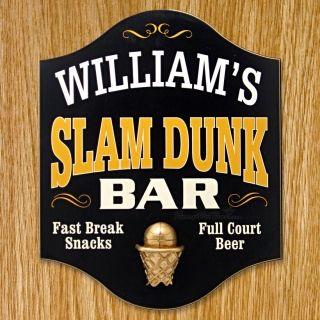 Slam Dunk Bar Custom Sign, from HomeWetBar.com