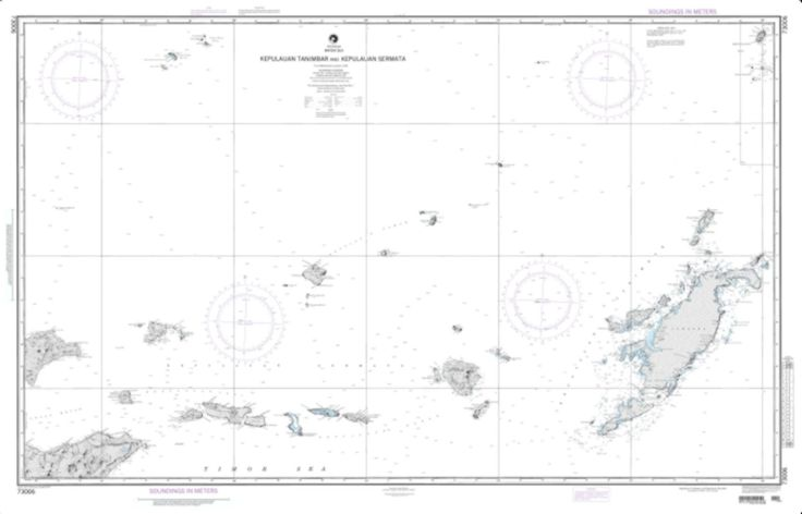 Tanimbar And Sermata - Banda Sea Nautical Chart (73006) by National Geospatial-Intelligence Agency