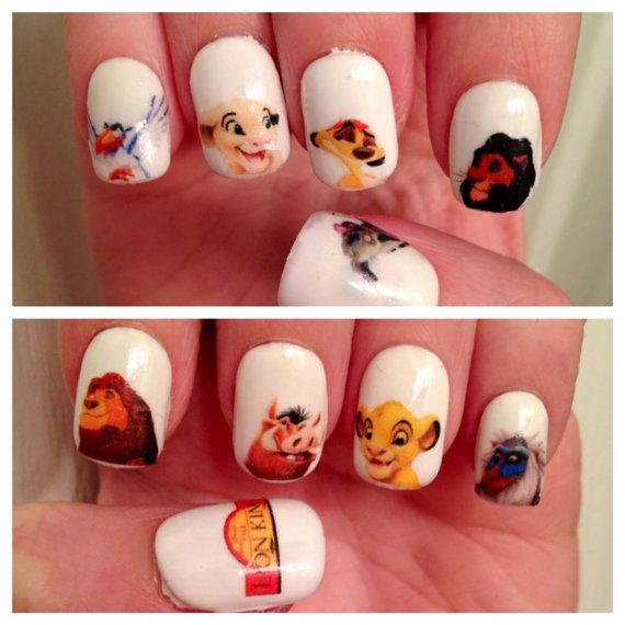 The Lion King Nail Decals on Etsy, £2.25
