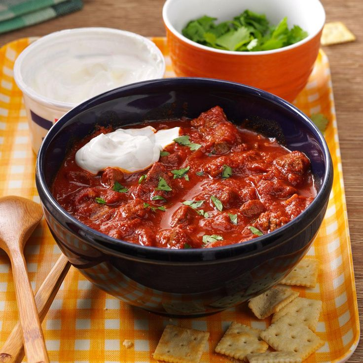 Chipotle Beef Chili Recipe -I love spicy food, so I think this chili really hits the spot. If you are sensitive to chili peppers, start out with one or two chipotles and go up from there. —Steven Schend, Grand Rapids, Michigan