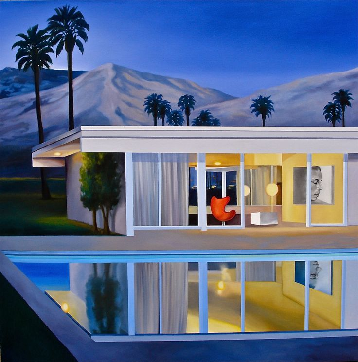 Modern Homes Los Angeles California: 11 Best Modern Architecture Oil Paintings By James
