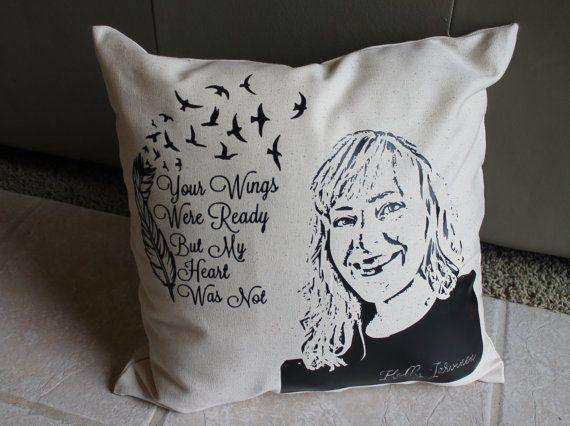 Check out Memorial Pillow, Memorial Photo Pillow, Christmas Gift, Christmas Memorial, Custom Made Memorial Gift, In Loving Memory, Photo Pillow on amysbubblingboutique