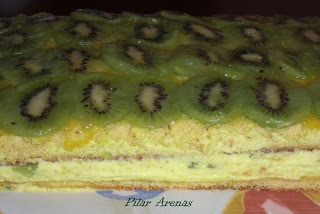 Tarta de Kiwi Thermomix®: Thermomix Recipes, This Cake, Days, De Kiwi, Today, Kiwi Thermomix, Facile Kitchen, Easy To, This Day