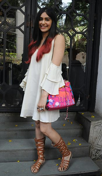 Adah Sharma in a Pankh dress and Nastygal sandals