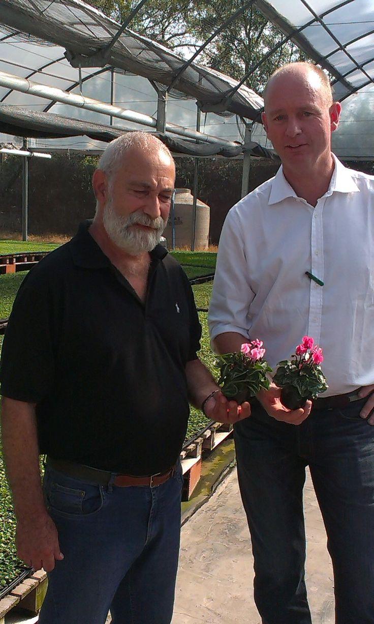 Oscar Herrera from Sonneveldt Argentina with regiomanager Jerry van der Spek