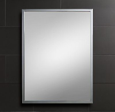 RH Modern's Classic Wall Mirror:Our classic  wall mirrors coordinate beautifully with any of our bath collections.