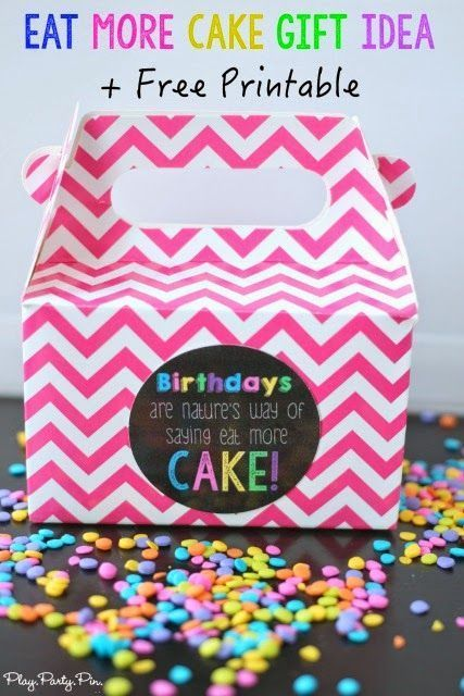 Love this birthday gift idea to give someone cake with this cute free printable!