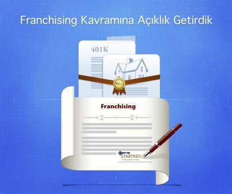 Franchising kavramına açıklık getirdik!   Franchising hakkında herşeyi bulabileceğiniz ücretsiz e-kitabı ücretsiz indirin: http://startkeyakademi.com/?book=turkiyede-bayilik-almak-isteyenler-icin-en-yeni-teklifler