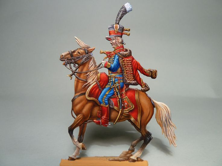 Napoleonic Hussar, a flat painted by Franz Winkler