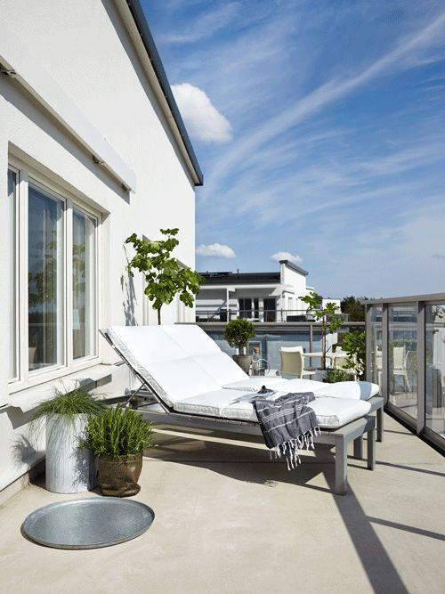 Vad sägs om en solig terrass?