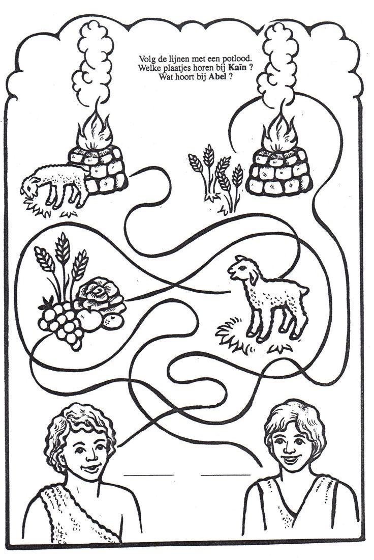 5831 best bijbelse werkjes images on pinterest bible for Cain and abel crafts