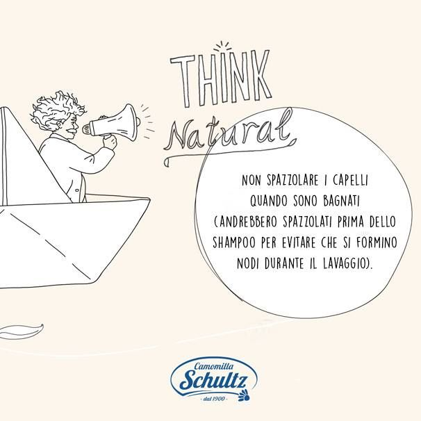 Think Natural: Spazzola i capelli prima di fare la doccia, eviterai la formazione di nodi durante il lavaggio! #schultzhair #schultz #supernaturalblondes #blondehair #blondenatural #camomilla #thinknatural