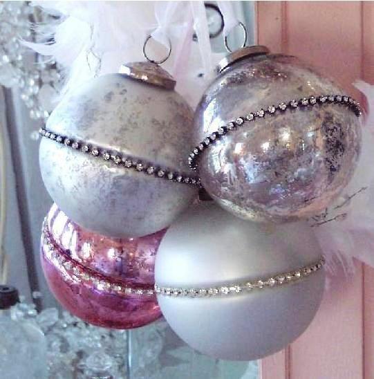 Mercury Balls Decorations Endearing 120 Best Mercury Glass Images On Pinterest  Bricolage Christmas Design Ideas