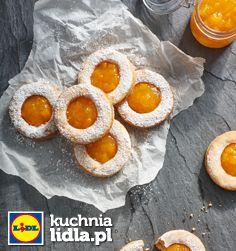 Włoskie ciastka z migdałami i konfiturą brzoskwiniową. Kuchnia Lidla - Lidl Polska #pawel #ciastka