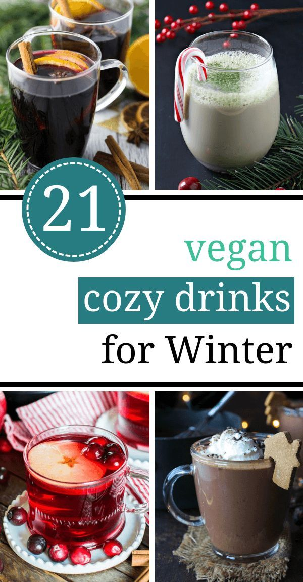 21 Cozy Vegan Drinks for Winter and Christmas (Healthy, Dairy-free Recipes)