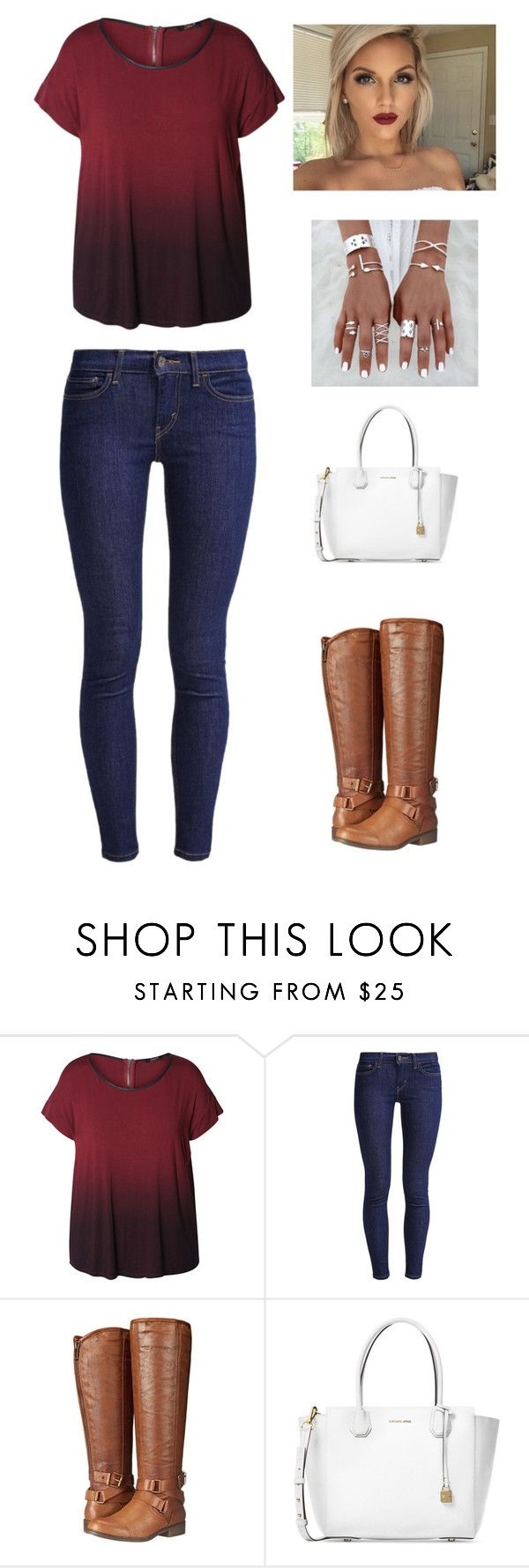 """""""Single Ladies Put Your Hands Up """" by rachelroo01 ❤ liked on Polyvore featuring Dex, Levi's, Madden Girl, Michael Kors and plus size clothing"""