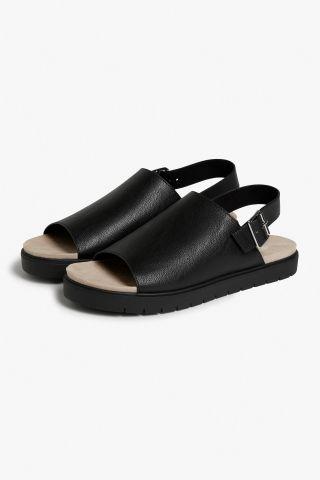 Monki Slingback sandals  in Black