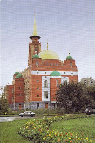 The new mosque in Samara, built in red brick in late 1990s is one of the largest mosque in Russia