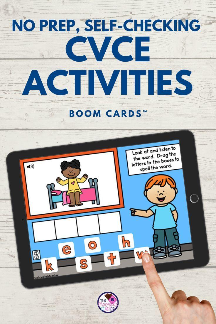 Cvce Long Vowel Silent E Bundle Boom Learning Distance Learning Cvce Activities Cvce Activities