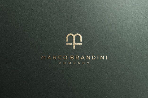 Logo Mockup Textured Luxury Gold Logo Mockup Custom Logo Design Personal Logo Design