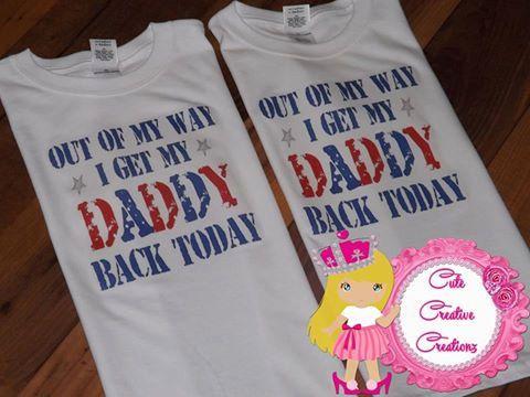 Welcome Home shirt - military shirt - Welcome daddy shirt - Welcome kids shirts - welcome wife shirt - personalized mom and kids shirt