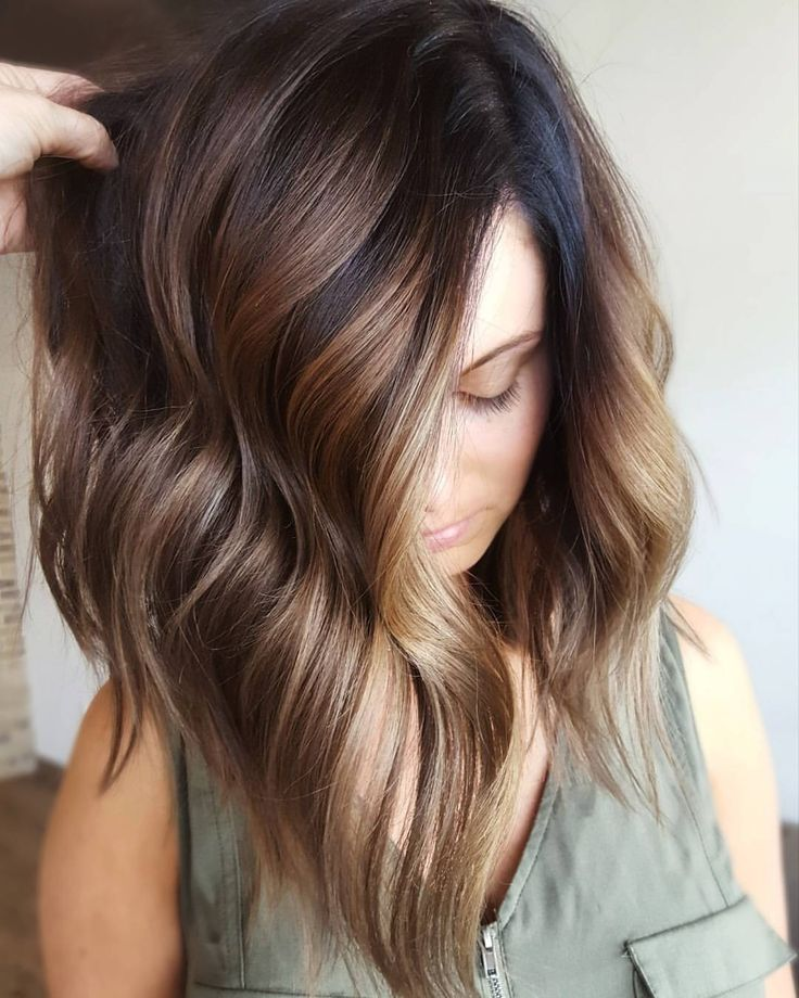"335 Likes, 14 Comments - Mika at The Boulevard Hair Co. (@mikaatbhc) on Instagram: ""》》》 Mochalized ☕ Formula: 4N redken shades (base) Balayaged 30 vol. Wella freelights Toned: 9/73 2…"""
