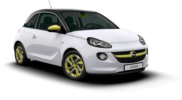 White and Green. What a mix. More here: http://www.opel.com/microsite/adam/#/country