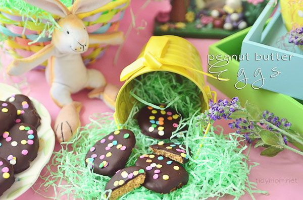 make homemade peanut butter eggs for their #Easter baskets #recipe at TidyMom.net
