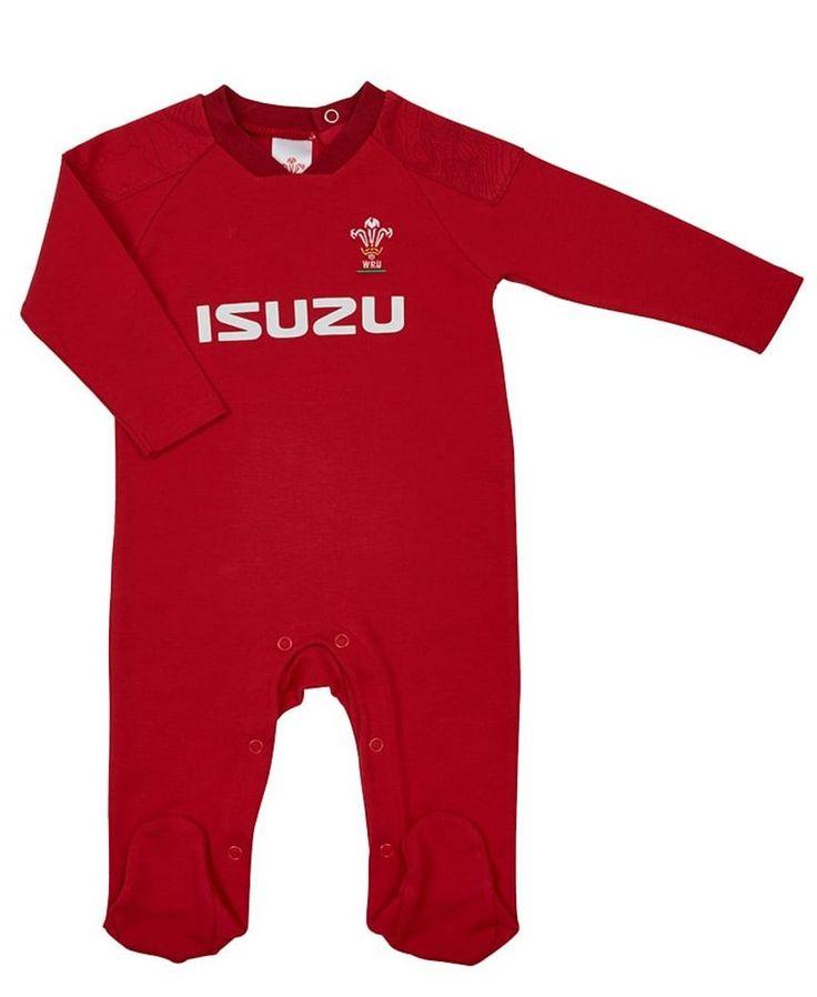 Wales WRU Rugby Baby Sleepsuit | 2017_18 Season. #rugby #6nations